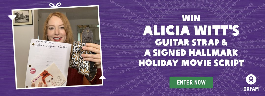 Win Alicia Witt's guitar strap and a signed Hallmark holiday movie script