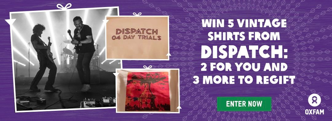 Win 5 vintage shirts from Dispatch