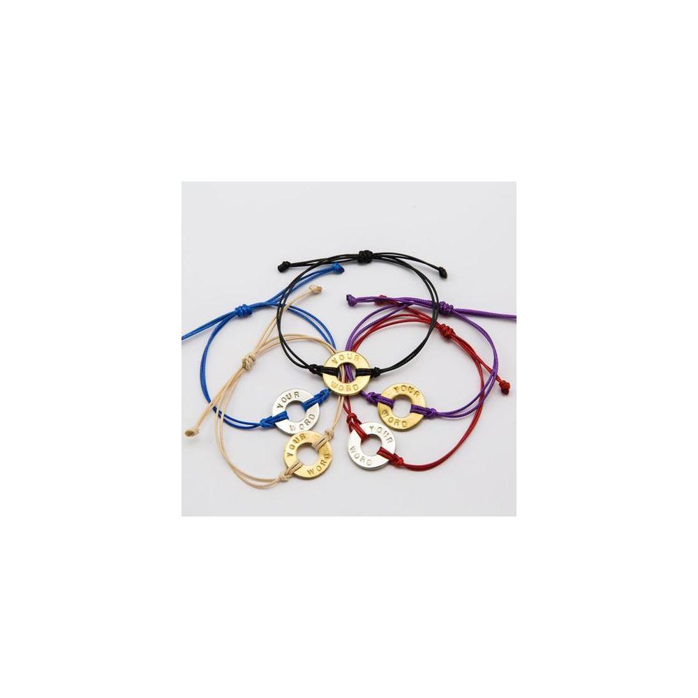 Very best MyIntent Adjustable Bracelet (Choose Your Word) VN16